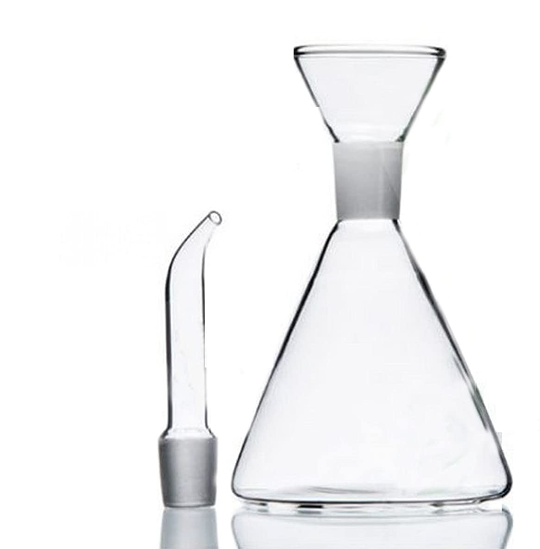 ELETON Olive Oil Dispenser Oil Bottle Glass with No Drip Bottle Spout - Oil Pourer Dispensing Bottles for Kitchen - Olive Oil Glass Dispenser to Control Cooking Vegetable Oil and Vinegar(16 oz)