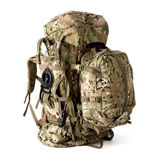 MT Military Army Large Rucksack with Detacheable Tactical Assault Backpack, Hydration Pack, Padded Shoulder Straps and Waist Belt, Internal Metal Frame, for Men, Multicam Camo