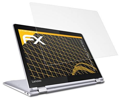 atFolix Panzerfolie kompatibel mit Lenovo Yoga 710 14 inch Schutzfolie, entspiegelnde und stoßdämpfende FX Folie (2X)