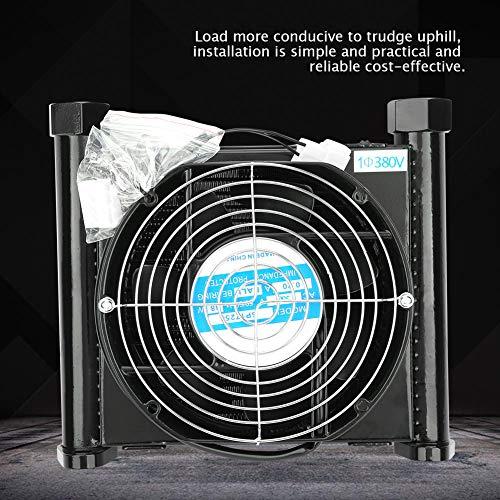 Enfriador de aire hidráulico, 10L/min Enfriador de aire hidráulico Radiador de aceite refrigerado por aire Intercambiador de calor hidráulico(380 V)