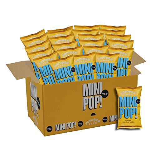 Mini Pop!® Toffee Mini Popcorn (24er Pack) - Veganer, Glutenfreier, Milchfreier, Allergenfreier, Kalorienarmer, Gesunder Snack