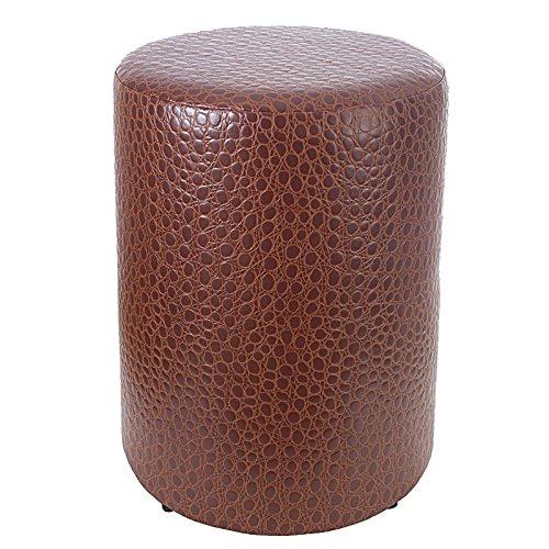Kaikoon Tabouret rond imitation cuir de crocodile - Hauteur d'assise : 44 cm