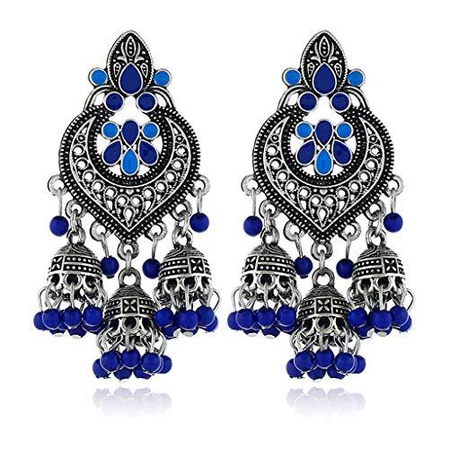 XIAN Retro Indian Bollywood Kundan Jhumka Jhumki Drop Earrings Gypsy Fashion Jewelry