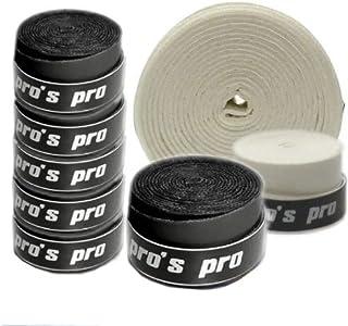 Pro's Pro 10 Griffbänder Tennis, Badminton, Squash (schwarz)
