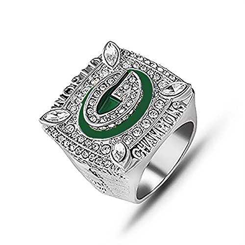Super Bowl Championship Replica Ring for Sports Fans (2010 Green Bay Packers, without box)