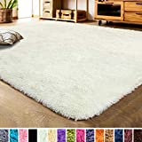 LOCHAS Luxury Velvet Shag Area Rug Modern Indoor Fluffy Rugs, Extra Soft and Comfy Carpet, Cute Color Furry...