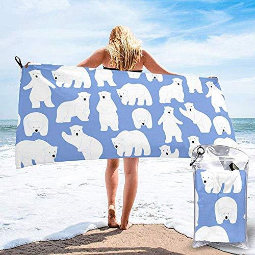 EXking zachte badhanddoeken extra grote witte beer sterrenbeeld print badhanddoek snel droog bad handdoek voor Bachelor partij