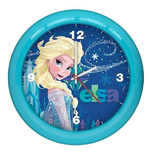 GUIZMAX Compatible avec Horloge Murale La Reine des Neiges Montre Bleu