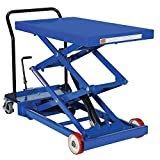 Pake Handling Tools Double Scissor Lift Table – Functional Lightweight Work Bench Table – 1000 lbs, 40.5 X 24' Platform Size