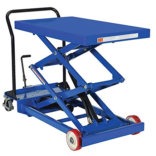 Pake Handling Tools Double Scissor Lift Table – Low Profile Work Bench Table – 1000 lbs, 40.5 X 24
