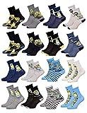 Ozabi - Chaussettes Enfant Licence Les Minions fantaisie -Assortiment modèles photos selon arrivages- Pack de 9 Paires Garçon 27/30