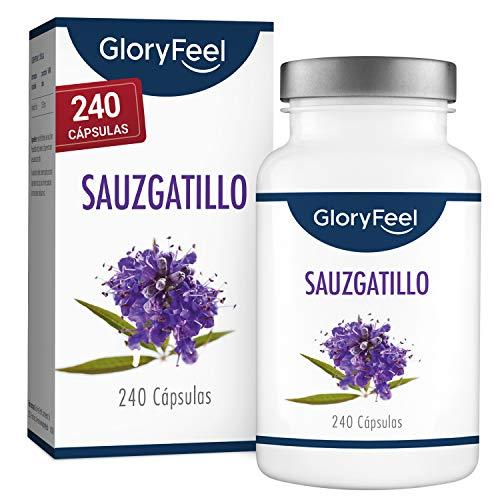 Sauzgatillo (Vitex Agnus Castus) - Extracto 4:1 altamente dosificado - 240 cápsulas veganas- 10mg Extracto puro de Sauzgatillo por cápsula- Producción probada en laboratorio en Alemania
