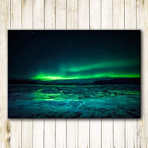 Lunderliny Printing Oil Painting Wall Painting Northern Lights Wall Art Picture For Living Room Home Decor 70x100cm