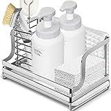 Oriware Organizador Sink Caddy Soporte para Utensilios de Cocina para el Fregadero Soporte para Trapo de Cepillo de Esponja - Acero Inoxidable
