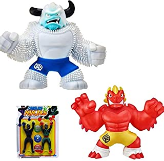 Heroes of Goo Jit Zu - 2 Pack of Super Stretchy Action Figures - Ultra Rare Yeti and Blazagon Dragon