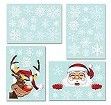 Yuson Girl 42 Stk Schneeflocken Fensterbild mit Weihnachtsmann Elk Abnehmbare Weihnachten Aufkleber Fenster Weihnachten Deko Wandtattoo Weihnachten Statisch Haftende PVC Aufkleber - 3