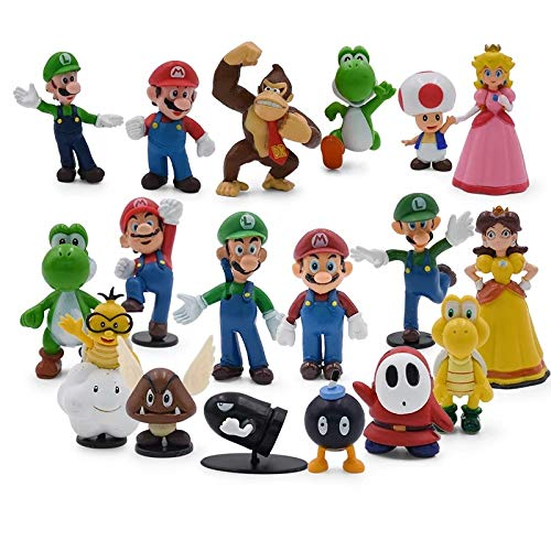 18/Pcs Action Figures Mario Super Figures Donkey Kong Toad and Princess Best Present For Kids Figures De Action para Ninos