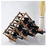 YTO Weinregal, Tischplatte, Weinhalter, Flaschenhalter, faltbar, für Zuhause, Küche, Bar, L20.01.31, a, 10 Bottles Size