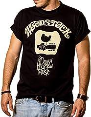 MAKAYA Camiseta Hippie Hombre - Woodstock