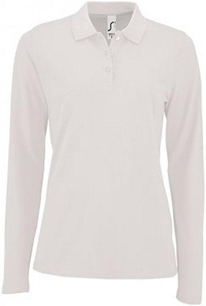 SOL'S Womens/Ladies Perfect Long Sleeve Pique Polo Shirt