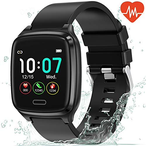 L8star Fitness Armband, Fitness Tracker Uhr Touch Screen Fitness Uhr IP67 Wasserdicht Smartwatch Sportuhr mit Schrittzähler Pulsuhren Stoppuhr für Damen Herren Smart Watch für iOS Android