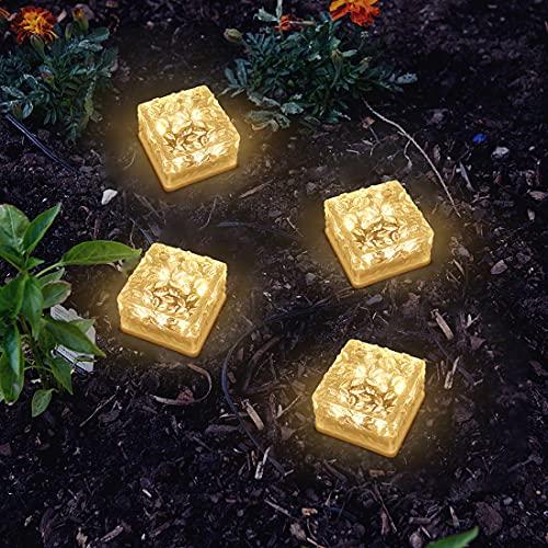 LMAMZ Paquete de 6 Luces Solares de Ladrillo, Focos Empotrables Led Cuadrados...
