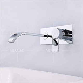 GFF Single-Handle Ceramic Valve Plug into The Wall Faucet Basin Chrome hot and Cold Water Mixer/Bathroom Sink Taps/Basin Mixer Tap/Bathroom Tap/Bathroom Mixer/Bathroom Basin Mixer Tap/Sink Taps
