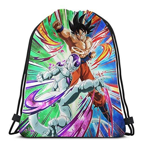 QUEMIN Dra_Gon Ba_Ll Go_KU Unisex Outdoor Gym Sack Bag Bolsa de Viaje con cordón Mochila 14.2 x 16.9 Pulgadas / 36 x 43cm