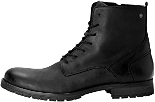 JACK & JONES Jfworca Leather Anthracite 19 STS, Chukka Boots Homme