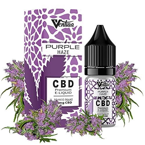 Premium CBD Liquid Purple Haze von Ventura | E Liquid für E Zigaretten & E Shishas | CBD Liquid Made in Germany | natürliche Terpene | 100mg CBD