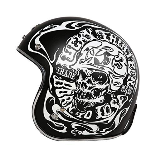 MRDAER Motorrad Retro Jethelm, ECE genehmigt Erwachsene Vintage Helm Pilotenhelm Motorrad Damen und Herren Helm Motorrad Chopper, M-XL (54-63CM)