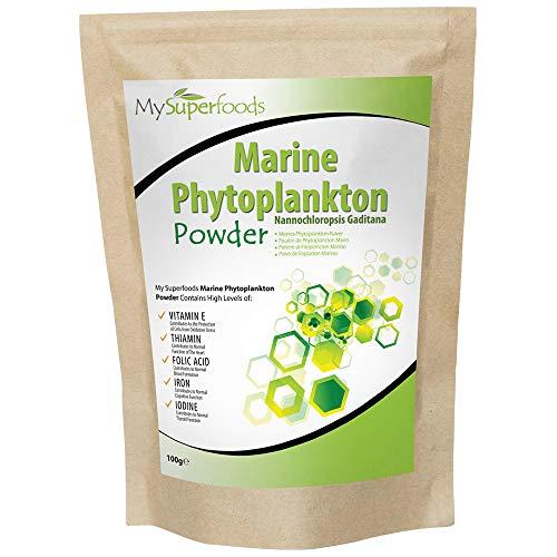 Marine Phytoplankton Pulver (100 Gramme), MySuperFoods, Reinstes Lebensmittel auf Erden, Kultiviert von der Tiefsee, Reich an Mikronährstoffen, Zu Säfte, Smoothies und Shakes hinzufügen