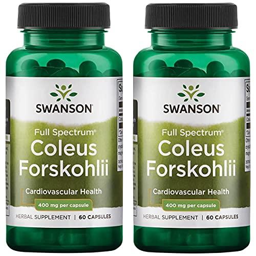 Swanson Coleus Forskohlii 400 mg 60 Caps 2 Pack