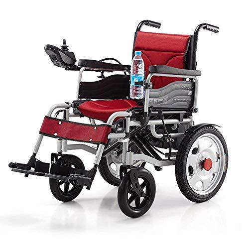 ZHICHUAN Silla de ruedas eléctrica, plegable, ligera, 34 kg, resistente y duradera para el uso, sillas de ruedas motorizadas convenientes para uso doméstico y al aire libre Plegable