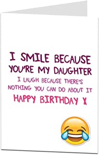 Funny Daughter Birthday Cards Perfect For 18th 21st 30th 40th 50th Cool Quirky Design Blank Inside To Add Your Own Personal Greetings