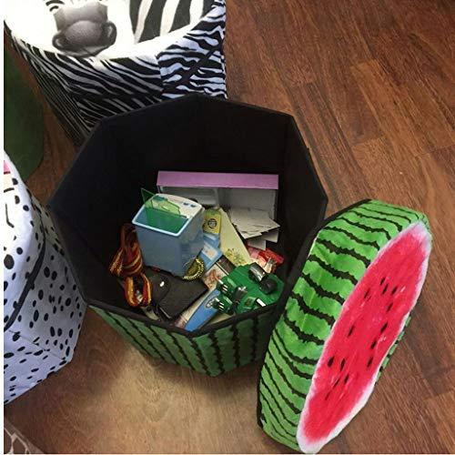 FunBlast Multi-Functional Folding Storage Ottoman Box Organizer Cum Stool with Seat Cushion, Toy Storage Boxes for Kids