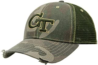 Football Fanatics Georgia Tech Yellow Jackets Camo Mesh Deliverance Hat