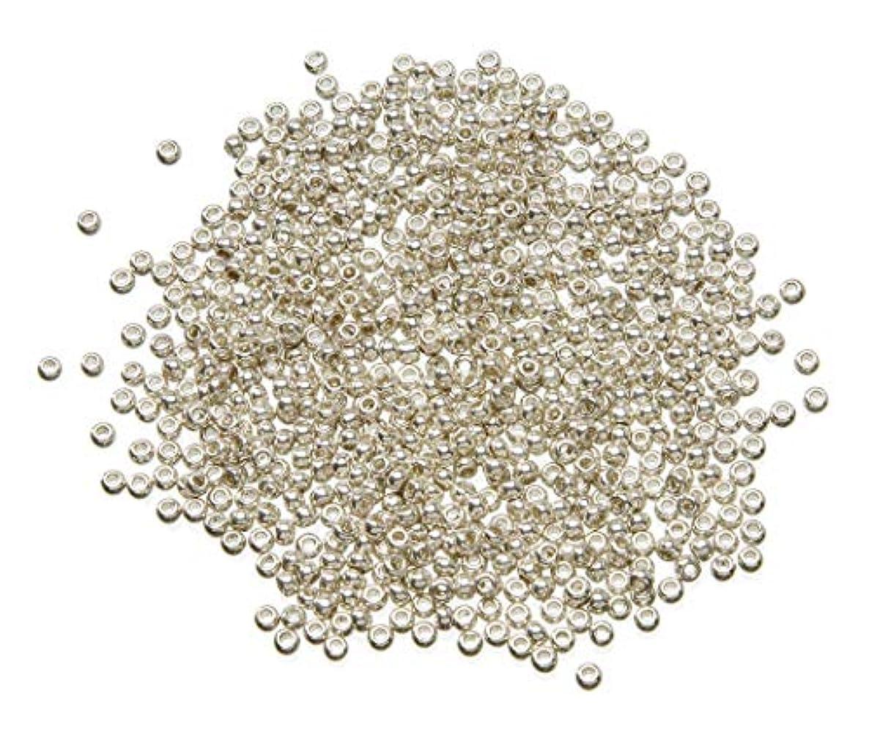 Darice Toho Japanese Glass Seed Beads, Galvanized Silver Finish