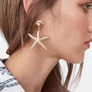 Victray Boho Starfish Earrings Gold Summer Beach Drop Earring Fashion Party Ear Accessories for Women and Girls