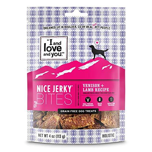 I and love and you Nice Jerky Bites - Grain Free Dog Treats, Venison +...