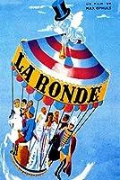 La ronde MaxOphulsフランスフランスヴィンテージレトロ映画フィルム装飾ポスター壁キャンバス家の装飾寝室の壁の装飾50x70cmフレームなし