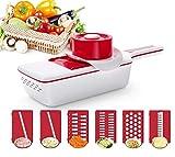 Cortador de verduras, cortador manual de queso, cortador de verduras, con protectores de manos y pelador de cepillo de limpieza, cortador de verduras con contenedor