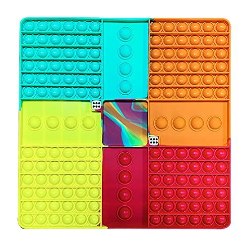 SSJQK 超大型減圧玩具 人気 インテリジェンス発展 スクイーズ玩具 感覚おもちゃ 親子の時間 友達と遊ぶ おもちゃ 子供大人兼用 レインボー チェス ボード