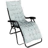 ZWPY Cojín reclinable de celosía, cojín Suave y cómodo de Repuesto para jardín con Alfombrilla Antideslizante, Asiento de Sol para Patio