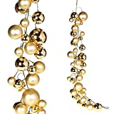 RAZ Imports Home for The Holidays 4' Ball Garland, Gold