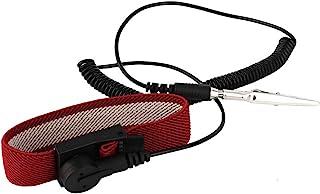 LANTRO JS - Antistatische polsbanden, verstelbare band met aardingsdraad en krokodillenklem