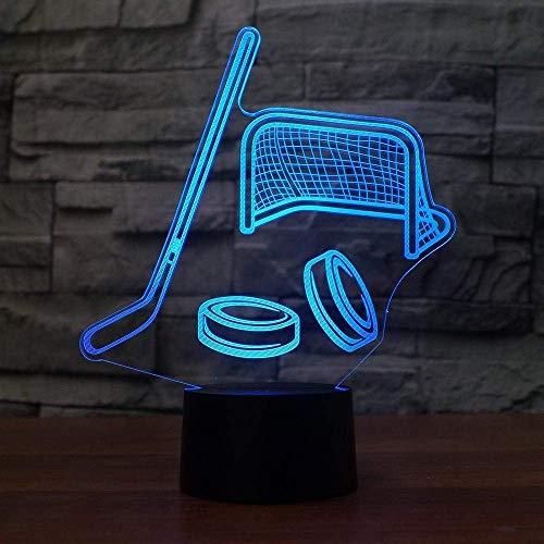 Optische Täuschung 3D Eishockey Nacht Licht 7 Farben Andern Sich USB Adapter Touch Schalter Dekor Lampe LED Lampe Tisch Kinder Brithday weihnachten Geschenk