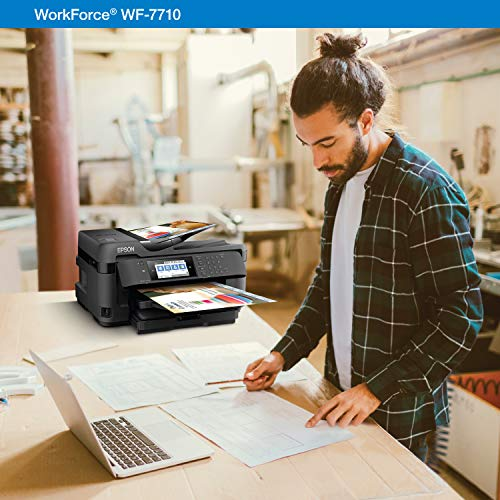 WorkForce WF-7710 Wireless Wide-format Color Inkjet Printer with Copy, Scan, Fax, Wi-Fi Direct and Ethernet, Amazon Dash Replenishment Ready Photo #3