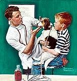 The Veterinarian Norman Rockwell Portrait Art...