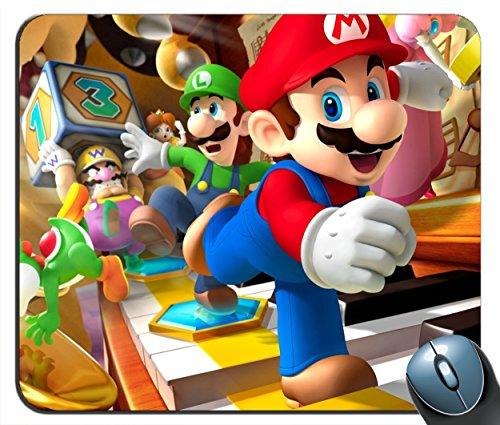Mario Luigi Yoshi Wario 3d - Custom Mouse Pad